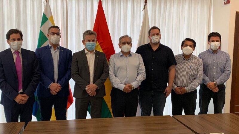 Governador assegura fornecimento de gás natural a MT em reunião com vice-ministro de Hidrocarburos e presidente da YPFB