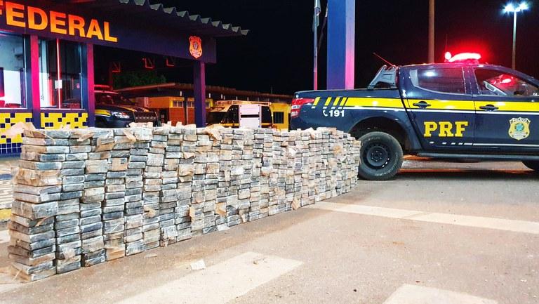 Mais uma grande apreensão de cocaína realizada pela PRF em Mato Grosso