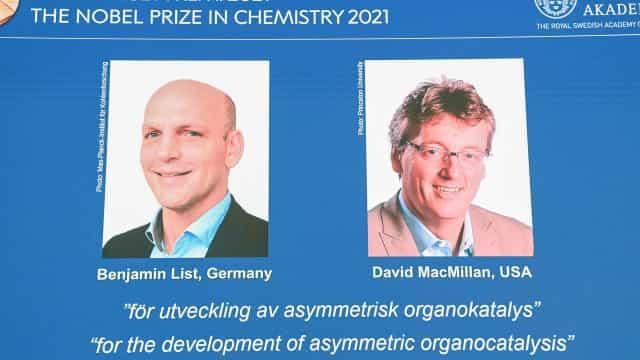 Nobel de Química 2021 vai para desenvolvimento de organocatálise assimétrica
